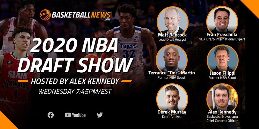 BasketballNews.com's 2020 NBA Draft Live-Stream