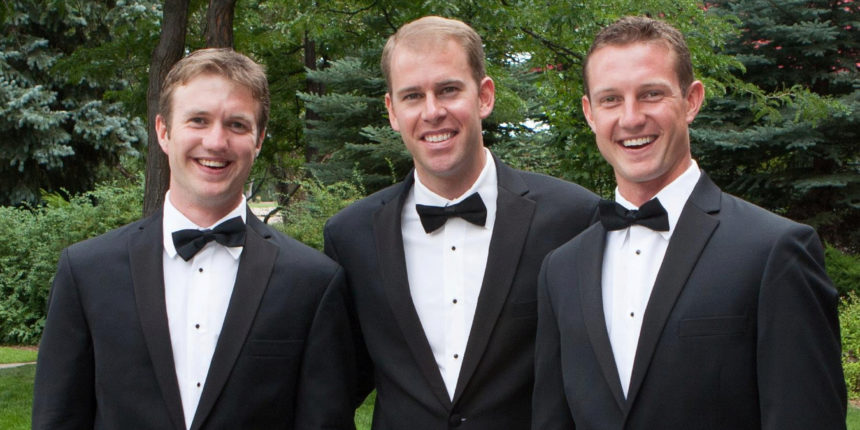 Nate Babcock (left), Matt Babcock (center) and Chris Babcock (right)
